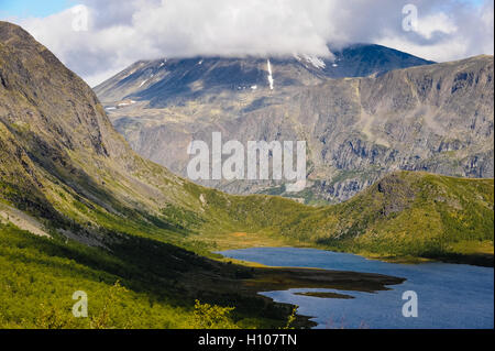 Norway, Oppland, Valdresflya. Just south of the Gjende Lake and Besseggen, in Jotunheimen. - Stock Photo