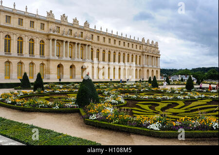 The Palace of Versailles, or simply Versailles, is a royal château close to Paris, France. - Stock Photo