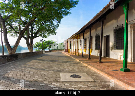 Colonial architecture in Mompox, Colombia on the Magdalena River - Stock Photo