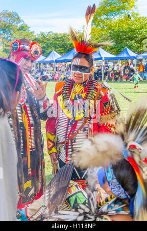 First Nations smudge ritual, Oppenheimer Park, Vancouver,  British Columbia, Canada - Stock Photo