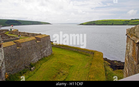 Kinsale Harbor from Charles Fort, Kinsale, County Cork, Ireland - Stock Photo