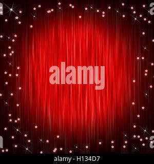 Closed curtain and little stars - Stock Photo