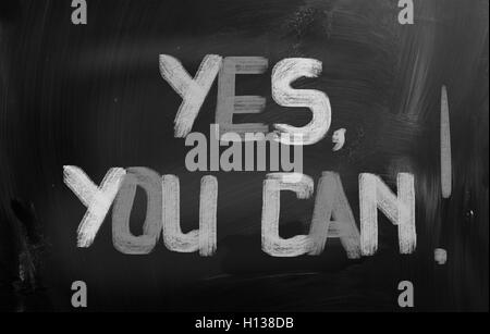 Yes, You Can Concept - Stock Photo