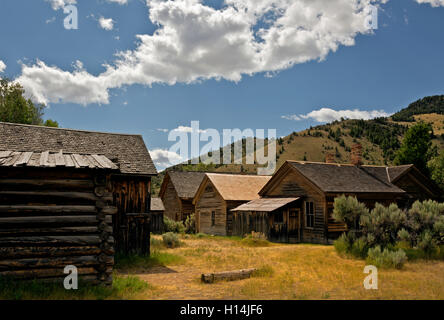 MT00058-00...MONTANA - Building in the ghost town of Bannack in Bannack State Park. - Stock Photo