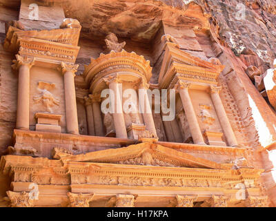 Al Khazneh, treasury at Petra, Jordan - Stock Photo