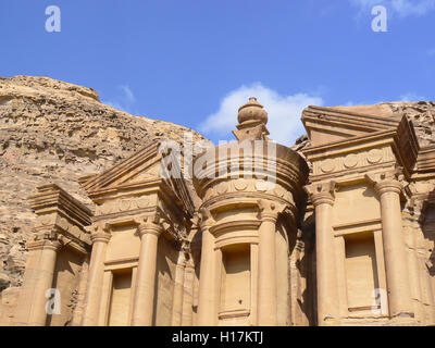 monastery El Deir at Petra, Jordan - Stock Photo