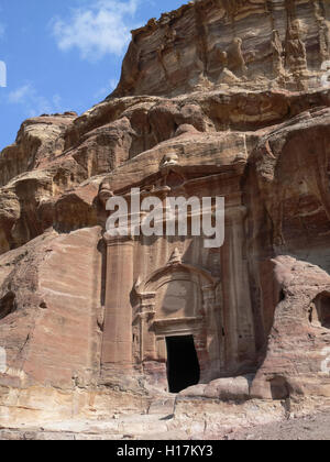 Tombs of Petra, Jordan - Stock Photo