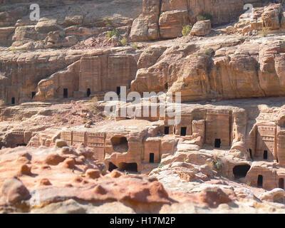 Graves of Petra in Jordan - Stock Photo