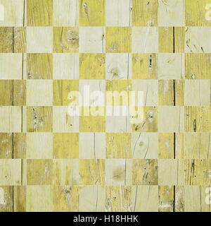 Yellow wooden chessboard - Stock Photo