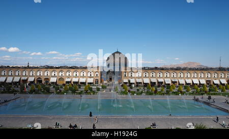 Sheikh Lotfollah Mosque and Naqsh-e Jahan Square - Stock Photo