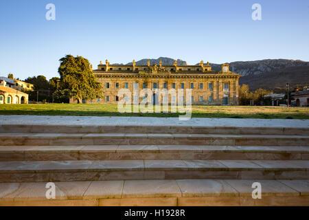 RoyalCasina di Caccia della Ficuzza hunting lodge, Ficuzza, Palermo province, Sicily, Italy, Europe - Stock Photo