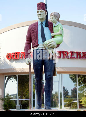 Full color Shriners statue in Mount Pleasant South Carolina - Stock Photo