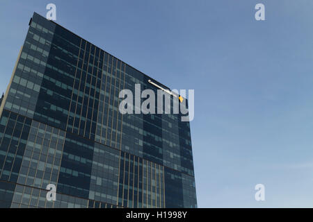 Modern office building housing the Commonwealth Bank of Australia Collins Street Docklands Melbourne Australia - Stock Photo