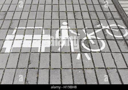 Signs of educational behavior in urban street - Stock Photo