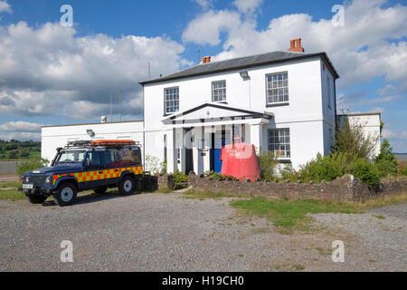 The river Severn Area Rescue Association station at Sharpness Old Dock is housed in former Dock Master's house on - Stock Photo