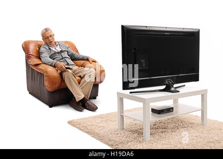 Image result for old man sleeping with tv on