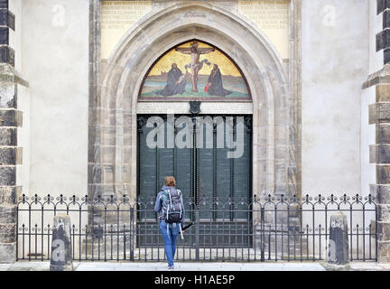 Lutherstadt Wittenberg Germany. 20th Sep 2016. The door to the All Saints & Lutherstadt Wittenberg Germany. 20th Sep 2016. The door to the All ...
