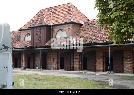 Celle, Germany. 16th Sep, 2016. The stalls at the stud farm of Lower Saxon state stud in Celle, Germany, 16 September - Stock Photo
