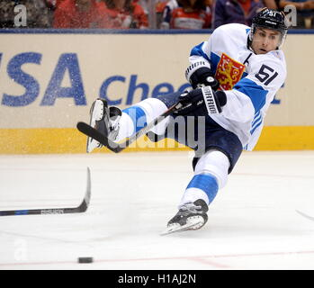 TORONTO, CANADA – SEPTEMBER 22, 2016: Finland's Valtteri Filppula in action in the 2016 World Cup of Hockey match - Stock Photo