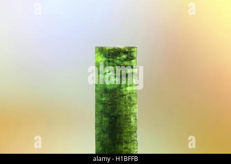 Crystal of tourmaline, called elbaite and verdelite - Stock Photo