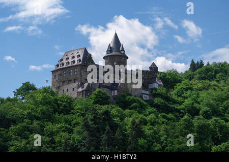 Castle Stahleck above the rhine valley, Bacharach, Germany - Stock Photo