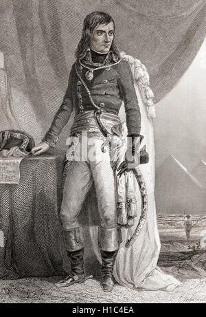 Napoléon Bonaparte, born Napoleone di Buonaparte, 1769 –1821.  French military and political leader. Emperor of - Stock Photo