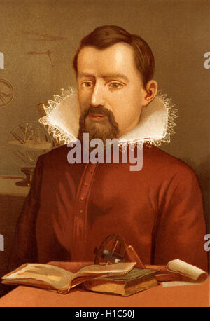 Johannes Kepler, 1571 - 1630. German mathematician, astronomer and astrologer. - Stock Photo