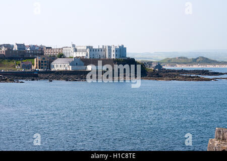 View on Dominican College in Portstewart  seafront, County Londonderry , Northern Ireland - Stock Photo
