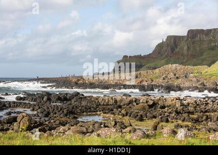 Giant's Causeway, Bushmills, County Antrim, Northern Ireland, UK - Stock Photo