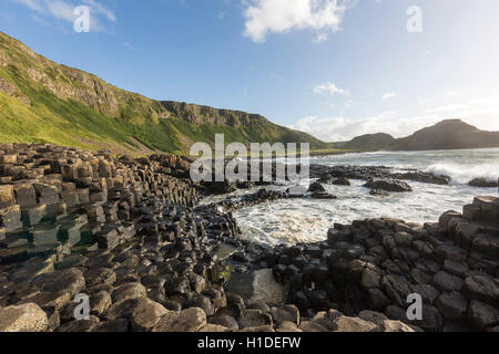 Port Ganny in Giant's Causeway, Bushmills, County Antrim, Northern Ireland, UK - Stock Photo