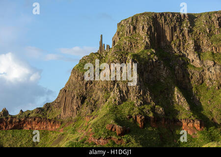 The Chimney Stacks, Giant's Causeway, Bushmills, County Antrim, Northern Ireland, UK - Stock Photo