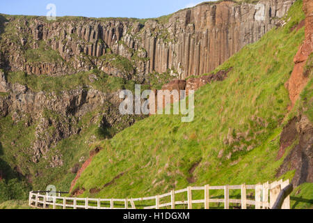 Giant's Causeway organ, Bushmills, County Antrim, Northern Ireland, UK - Stock Photo