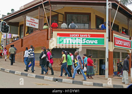Street corner, Mbabane, Kingdom of Swaziland - Stock Photo