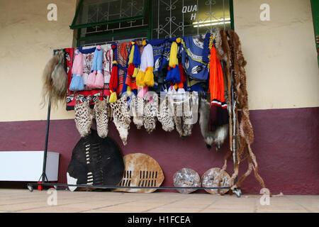 Traditional clothing shop, Mbabane, Kingdom of Swaziland - Stock Photo