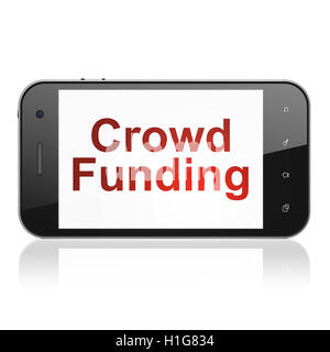 Finance concept: Crowd Funding on smartphone - Stock Photo