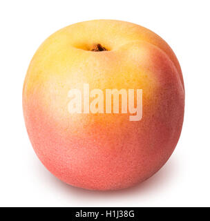 ripe apricot isolated on a white background clipping path - Stock Photo