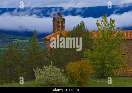 Castle of Javier, Javier, Church, Way of St. James, Navarre, Spain, - Stock Photo