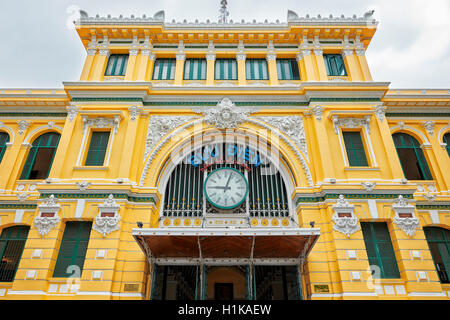 Central Post Office building. Ho Chi Minh City, Vietnam. - Stock Photo