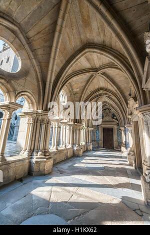 Cloister in Porto Cathedral, Barredo District, Porto, Portugal - Stock Photo