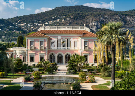 Villa Ephrussi de Rothschild, St. Jean Cap Ferrat, France - Stock Photo