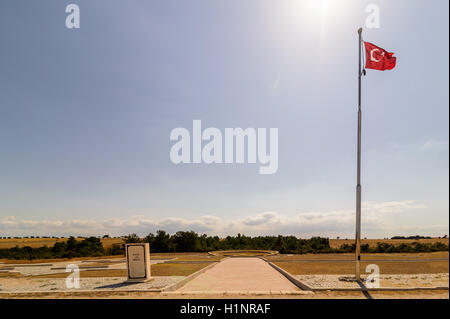 Saritepe Martyrs' Cemetery and Memorial. Gallipoli Campaign was a campaign of World War I that took place on the - Stock Photo
