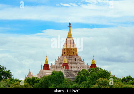 The Ananda Temple, located in Bagan, Myanmar. Is a Buddhist temple built in 1105 AD during the reign (1084 - 1113) - Stock Photo