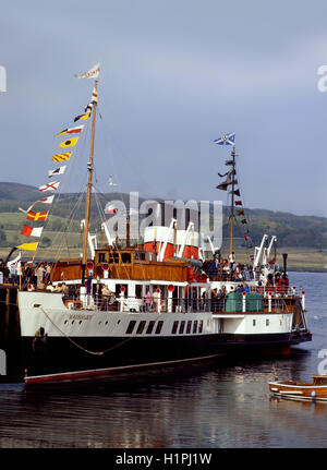 Waverley at Ardrishaig Pier,Argyll - Stock Photo