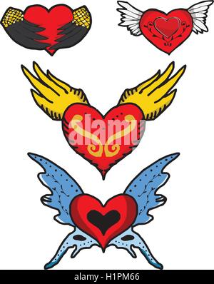 Heart With Devil Wings Drawings