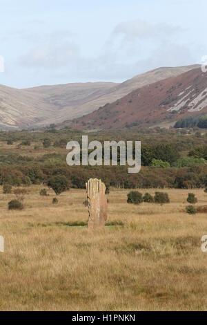 Standing Stone Machrie Moor 3, Isle of Arran, Scotland  September 2016 - Stock Photo