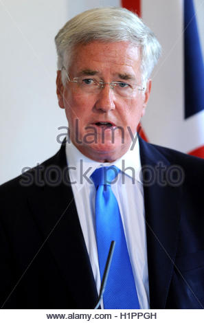 Embargoed to 2200 Friday September 23 File photo dated 9/9/2016 of Defence Secretary Sir Michael Fallon who has - Stock Photo