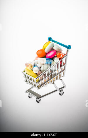 Drugs in a caddie. - Stock Photo