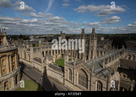Oxford University aerial view - Stock Photo