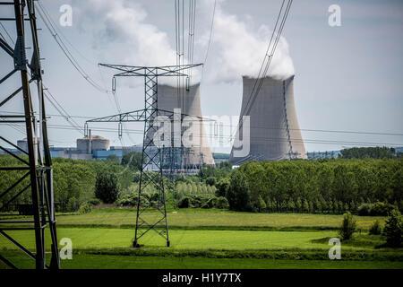 Nuclear power plant of Nogent-sur-Seine, Aube, France. - Stock Photo