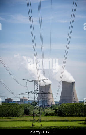 Nuclear power plant of Nogent-sur-Seine, Aube, France. - Stock Photo